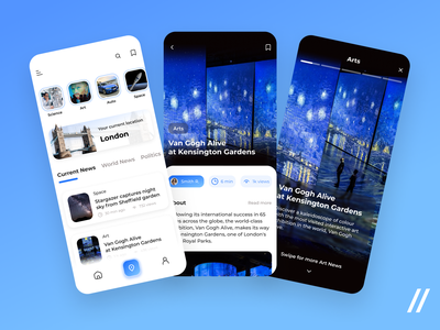 News App article story news feed feed chronicle newsletter info local art mvp animation mobile news ui startup online ux purrweb design app