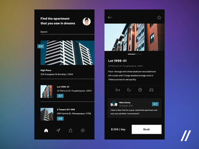 Apartment Search App rent house flat accommodation real estate app booking apartments real estate mobile app animation react native mobile mvp startup online ux ui purrweb design app
