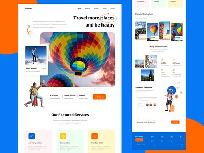 Traveler - Travel agency landing page website web design ui design homepage website design web interface landing page travel agency
