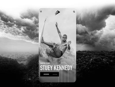FireWire Surf Concept sketch mobile design concept webdesign surfing surf ui