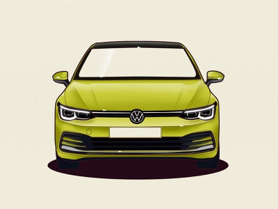 VW Golf 8 design vector vw volkswagen golf illustration car