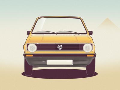 VW Golf 1 golf vector car illustration vw