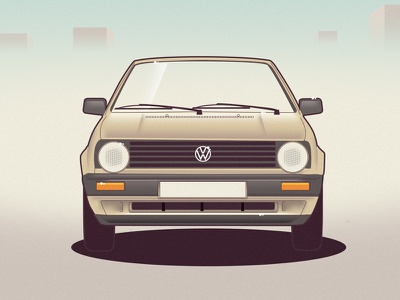 VW Golf 2 golf vw vector car illustration