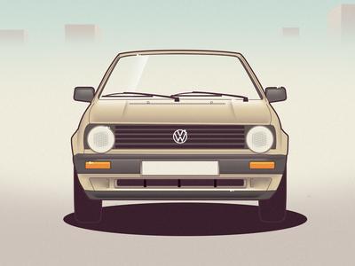 VW Golf 2 golf vw vector car illustration