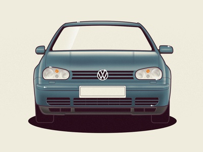 VW Golf 4 volkswagen golf vw vector car illustration