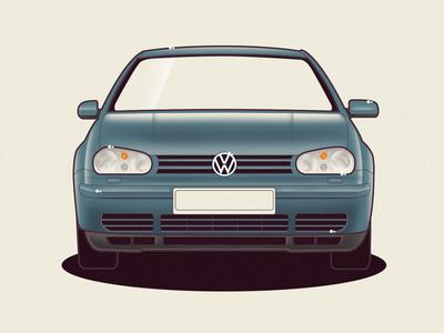 VW Golf 4 volkswagen golf vw vector car illustration