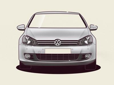 VW Golf 6 volkswagen golf vw vector car illustration