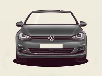 VW Golf 7 volkswagen golf vw vector car illustration
