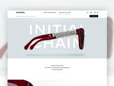 Eyewear dirrection art webdesign