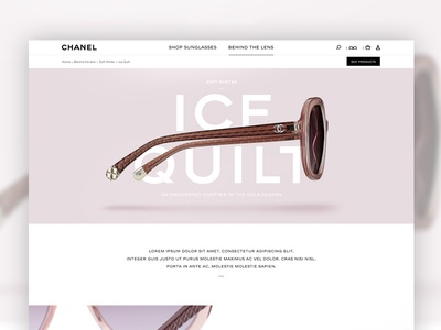 Eyewear webdesign direction art