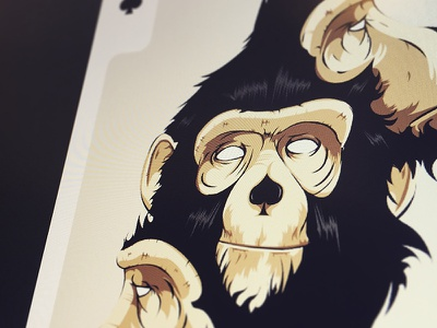 Playingart Sylvainweiss monkey contest illustration card playingartscontest