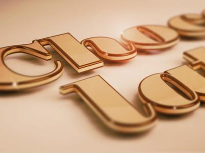 Chocolate type typography 3d