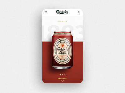 Carlsberg ux design mobile ui beer can beer