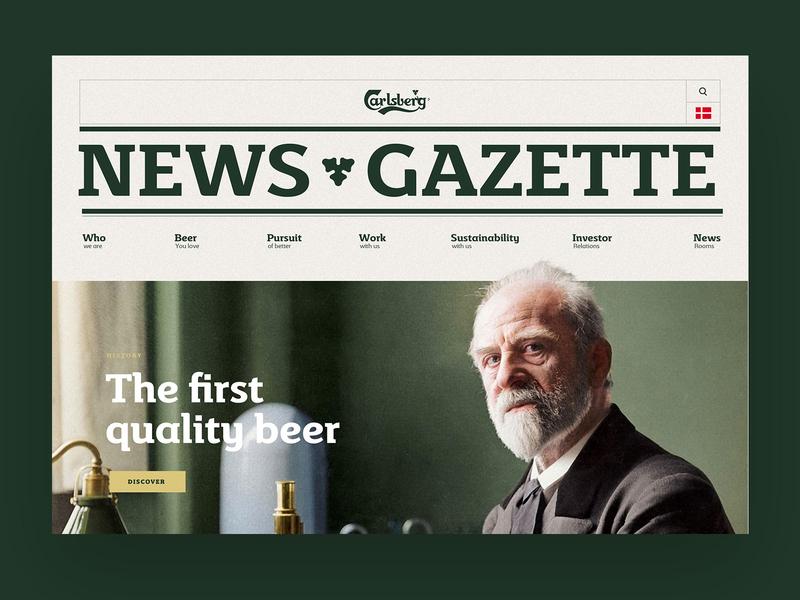 Carlsberg News website news desktop ux design carlsberg