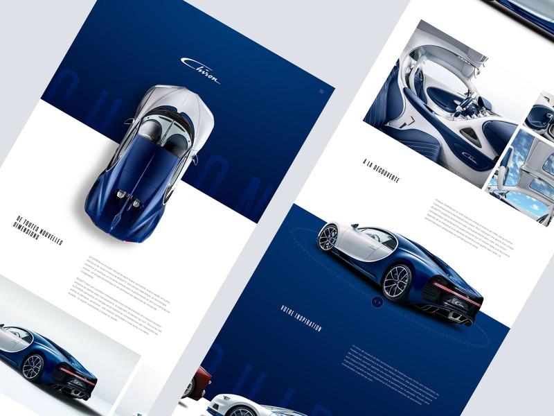 Bugatti inspiration website web design layout ux ui car