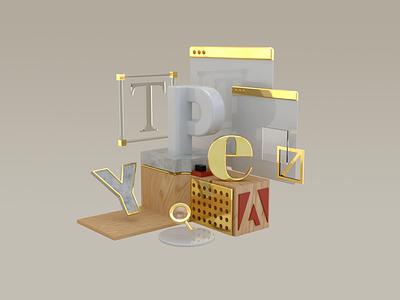 Adobe Type graphic design design lettering 3d