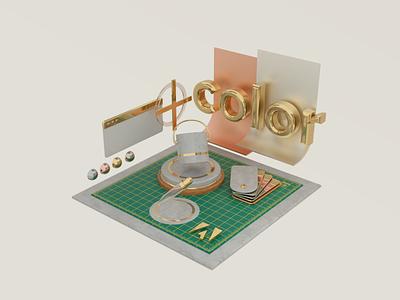 Adobe Color adobe branding graphic design 3d