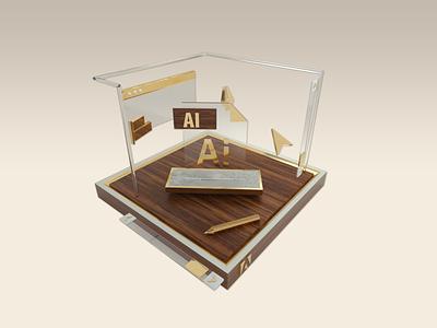 Adobe Illustrator adobe branding graphic design 3d