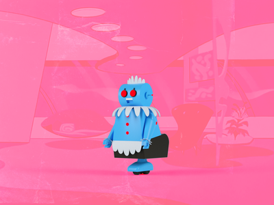 Rosie the Robot - The Jetsons cinema4d cartoon network jetsons rosie cartoon 3d