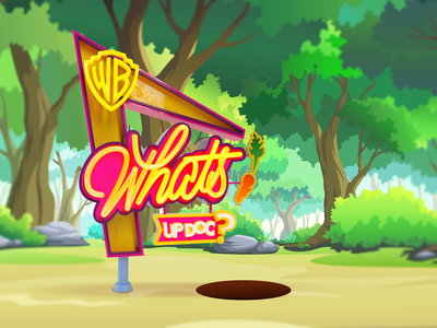 Whats up doc? design bugs lettering cartoon 3d