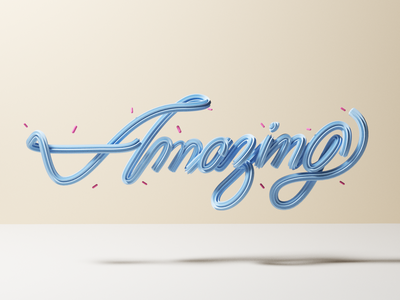 Humm amazing 3d letters calligraphy type lettering