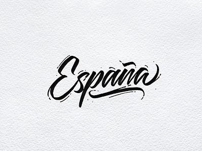 España country type lettering españa spain
