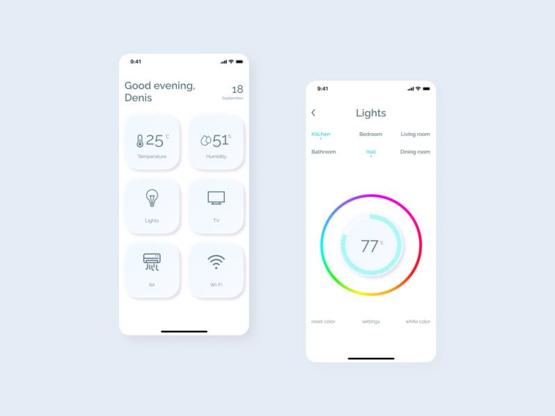 Daily UI  #021 - Home monitoring dashboard webdesign ux ui app concept uxdesign uidesign figma design dailyui