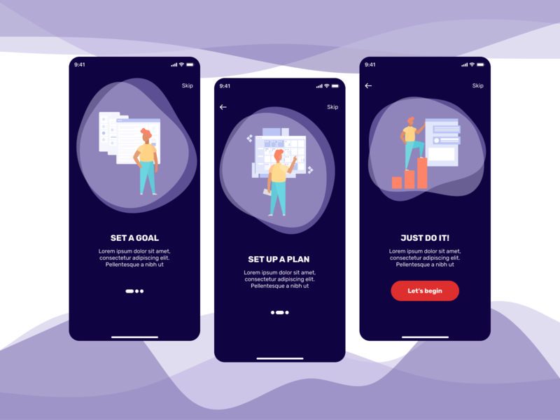 Daily UI #023 - Onboarding illustration app concept ux ui uxdesign uidesign figma design dailyui
