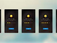 Hike voice call feedback screens