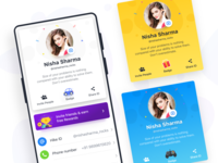 User Profile Cards - Hike Sticker Chat