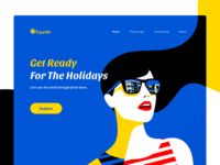 Travel App Web Header - Concept