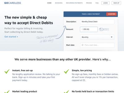 GoCardless.com v3 gocardless home homepage