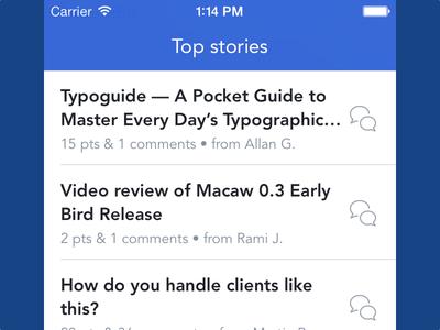 Designer News app designer news app