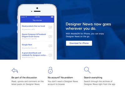 New home for MobileDN app home designer news