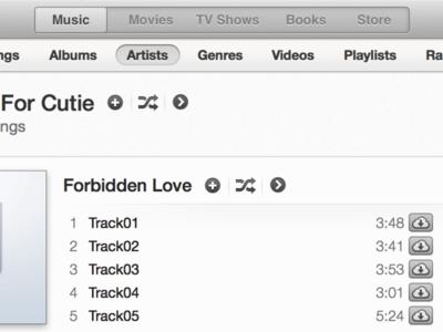 iTunes Redux itunes ui