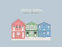 Striped beach houses of Costa Nova