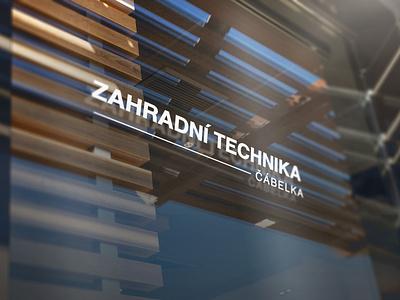Zahradní Technika logotype logo design modern logo vector minimal graphic design logo branding design
