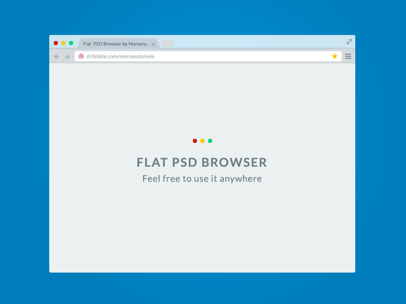 Flat PSD Browser flat psd browser freebie download chrome minimal