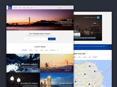 The Weather Channel Redesign weather weather channel redesign minimal ui gallery map homepage site