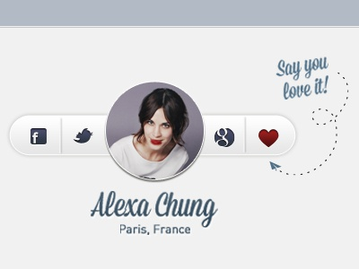 Share Buttons ui clean minimal favourite google g twitter facebook love photo share