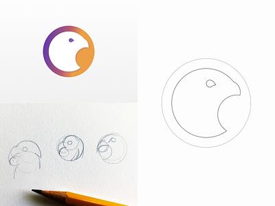 Falcão logo illustration logo