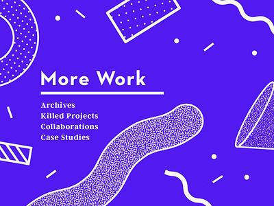 More Work experimental typography digital print collaboration design case study graphic design