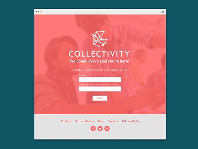 Collectivity Sign Up ux graphic design ui digital design web app web design creatives branding product design collaboration uiux