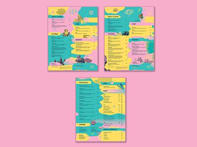 AEP Thai Restaurant Menu Design print collateral clean collaboration experimental design digital branding identity restaurant thai thai food graphic design illustration kansas city menu design signage social media