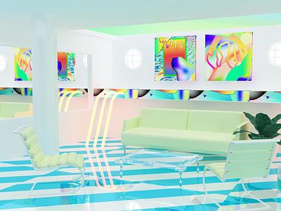 Neon Saltwater Collabo clean vector design collaboration rendering c4d 3d experimental digital kansas city illustration graphic design