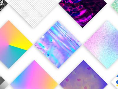 Pattern Soup: In App Patterns clean minimal vector design collaboration app ux ui gradient texture color pattern experimental digital kansas city graphic design