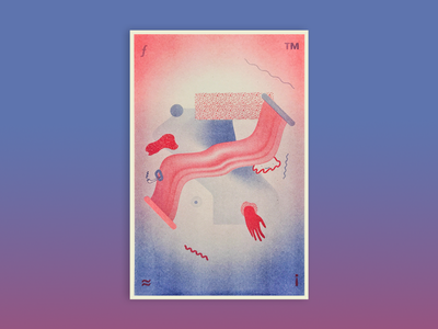 Double Decker Risograph Poster design experimental collaboration poster risograph riso print kansas city illustration graphic design