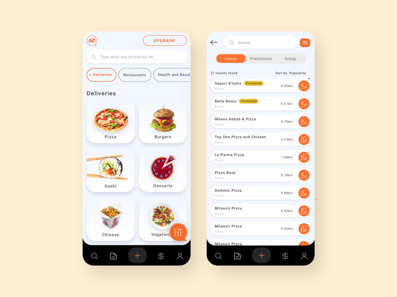 Azpop App iphone design mobile app design business directory shopping product food delivery food app deisgn app uiux uidesign ui