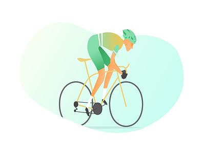 Cycling Vector Illustration vector illustration modern vector traithlon cycling ux ui design illustration cover app design app graphic design ui design