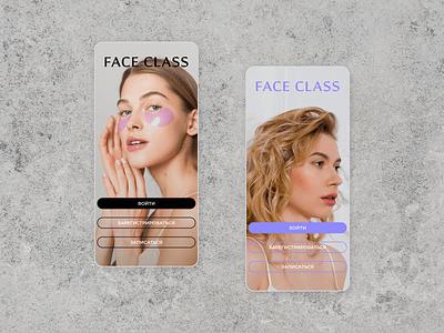 Beauty salon app first screen desing beauty salon salon app beauty first design ui branding concept app ui design app app design
